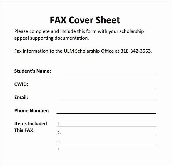 Printable Free Fax Cover Sheet Lovely 18 Printable Fax Cover Sheet Templates to Download