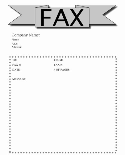 Printable Free Fax Cover Sheet New Printable Fax Cover Sheet Free Printable Pages