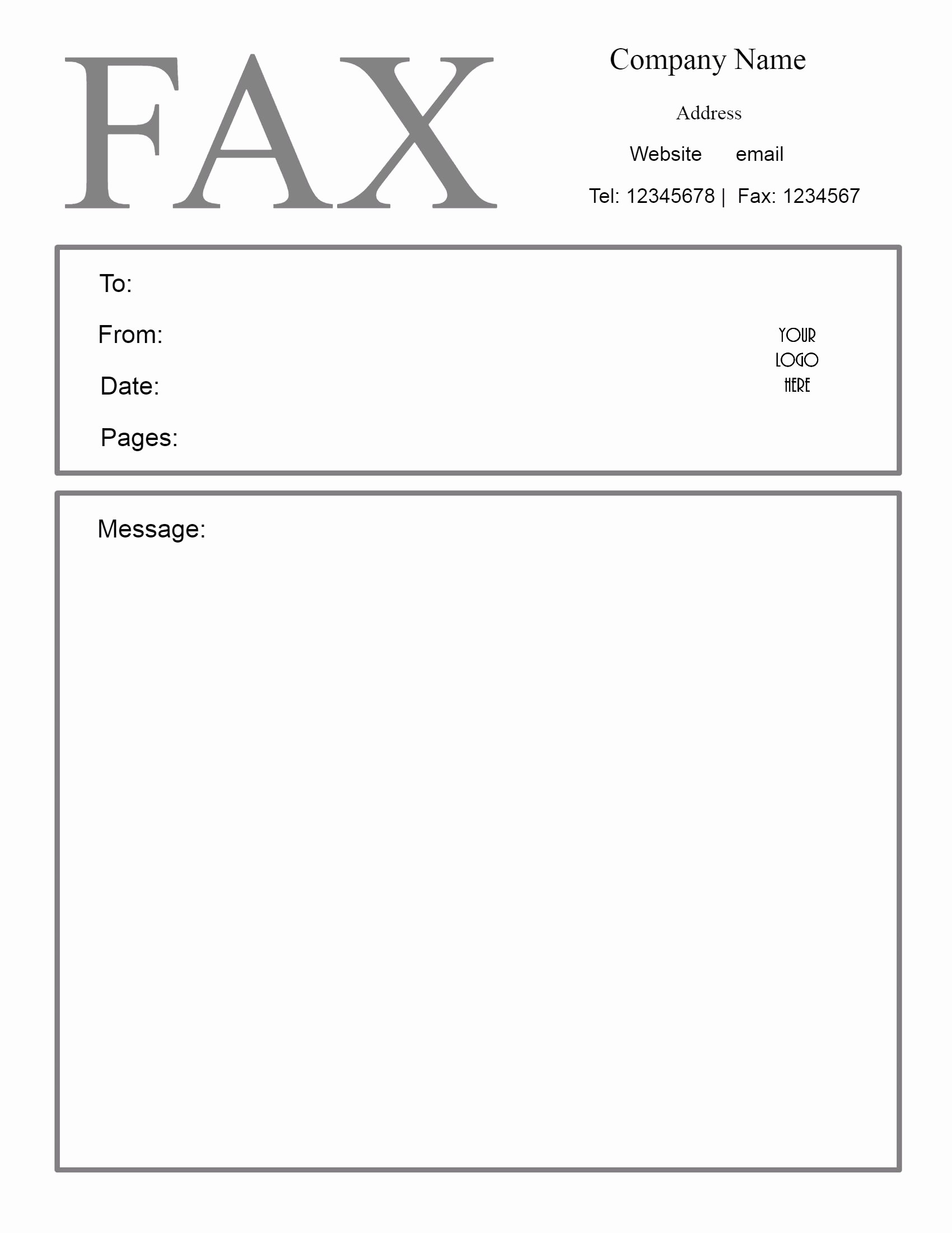 Printable Free Fax Cover Sheet Unique Free Fax Cover Sheet Template