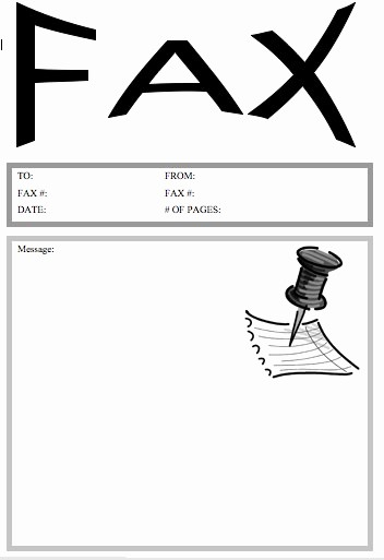 Printable Free Fax Cover Sheets Awesome Pushpin Fax Cover Sheet at Freefaxcoversheets