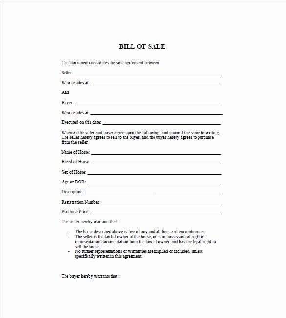 Printable Generic Bill Of Sale New General Bill Of Sale – 14 Free Word Excel Pdf format