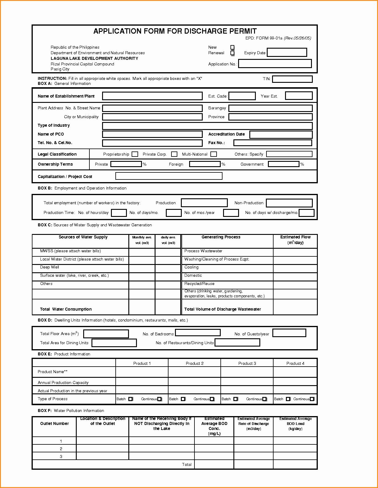 Printable Generic Job Application form New 13 Generic Job Application form