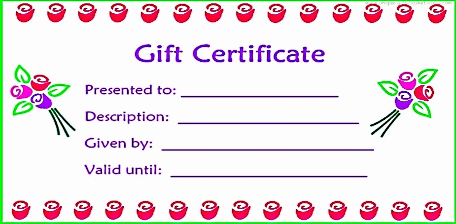 Printable Gift Certificates Online Free Awesome 28 Cool Printable Gift Certificates