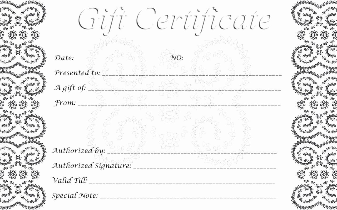 Printable Gift Certificates Online Free Elegant 28 Cool Printable Gift Certificates
