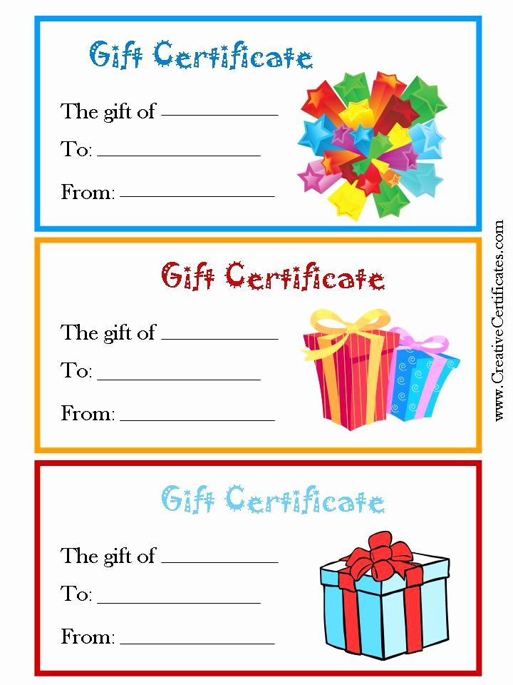 Printable Gift Certificates Online Free Elegant 7 Best Of Free Printable Gift Certificate forms