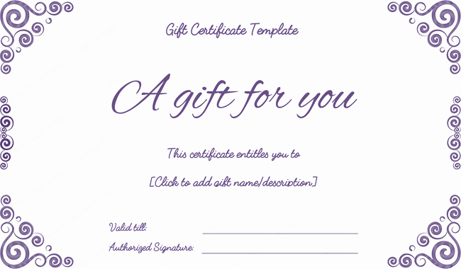 Printable Gift Certificates Online Free Elegant Purple Free Printable T Certificates Pdf