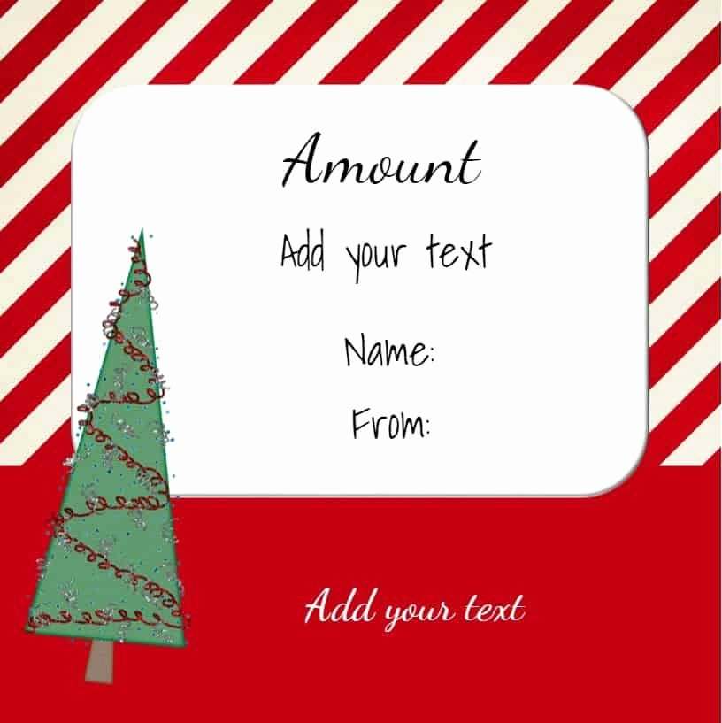 Printable Gift Certificates Online Free Fresh Free Christmas Gift Certificate Template