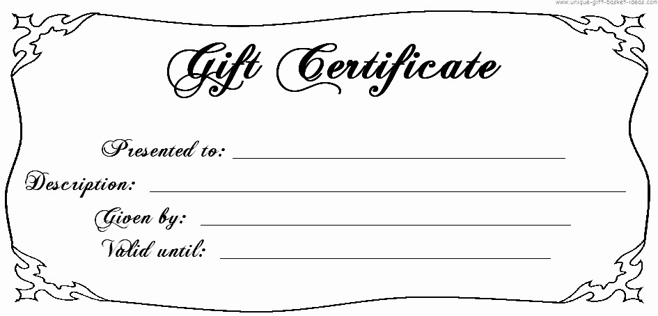 Printable Gift Certificates Online Free Fresh Free Printable Blank Gift Certificates