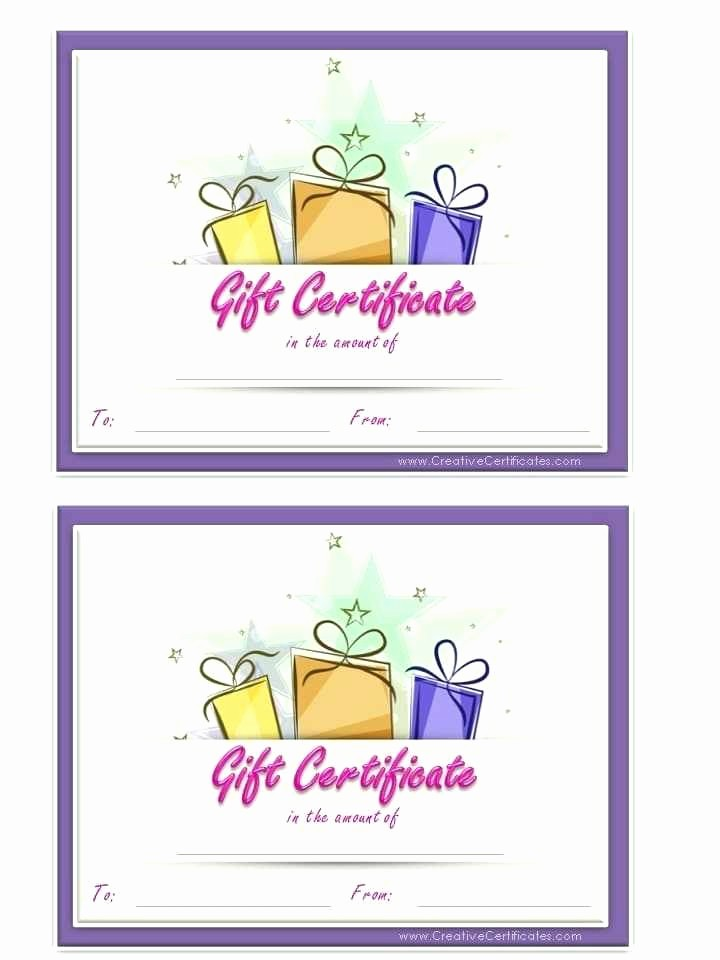 Printable Gift Certificates Online Free Inspirational Holiday Gift Certificate Template Free Printable