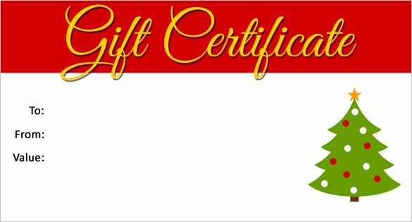 Printable Gift Certificates Online Free Lovely 20 Christmas Gift Certificate Templates Word Pdf Psd