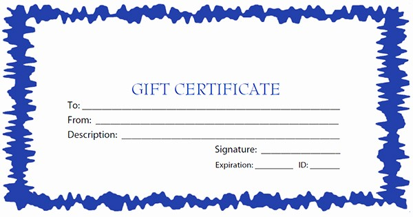 Printable Gift Certificates Online Free Luxury Printable Gift Certificate Templates