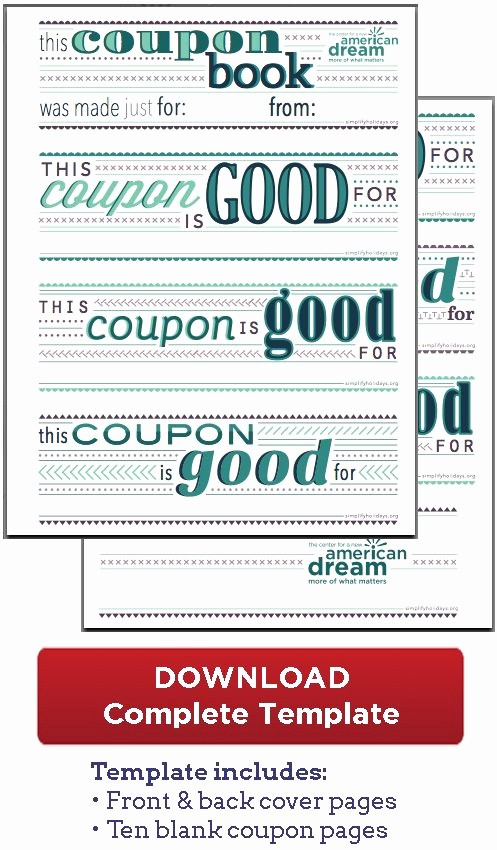Printable Gift Coupon Templates Free Awesome Free Coupon Book Download Free Printables