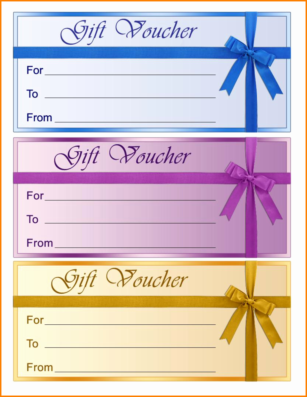 Printable Gift Coupon Templates Free Awesome Perfect format Samples Of Gift Voucher and Certificate