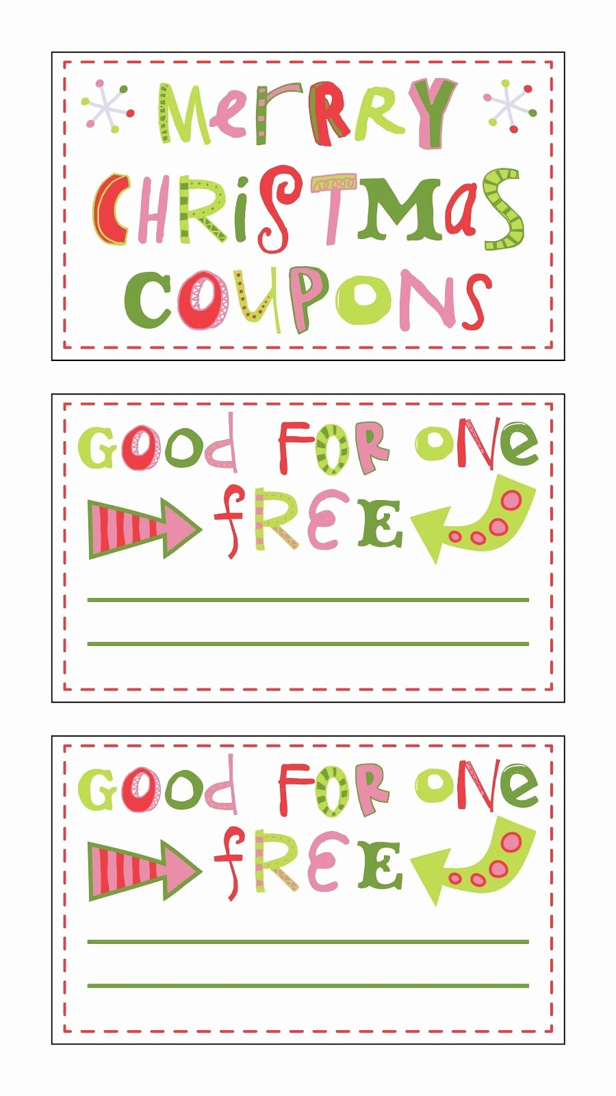 Printable Gift Coupon Templates Free Beautiful Free Printable Christmas Coupons Fontaholic