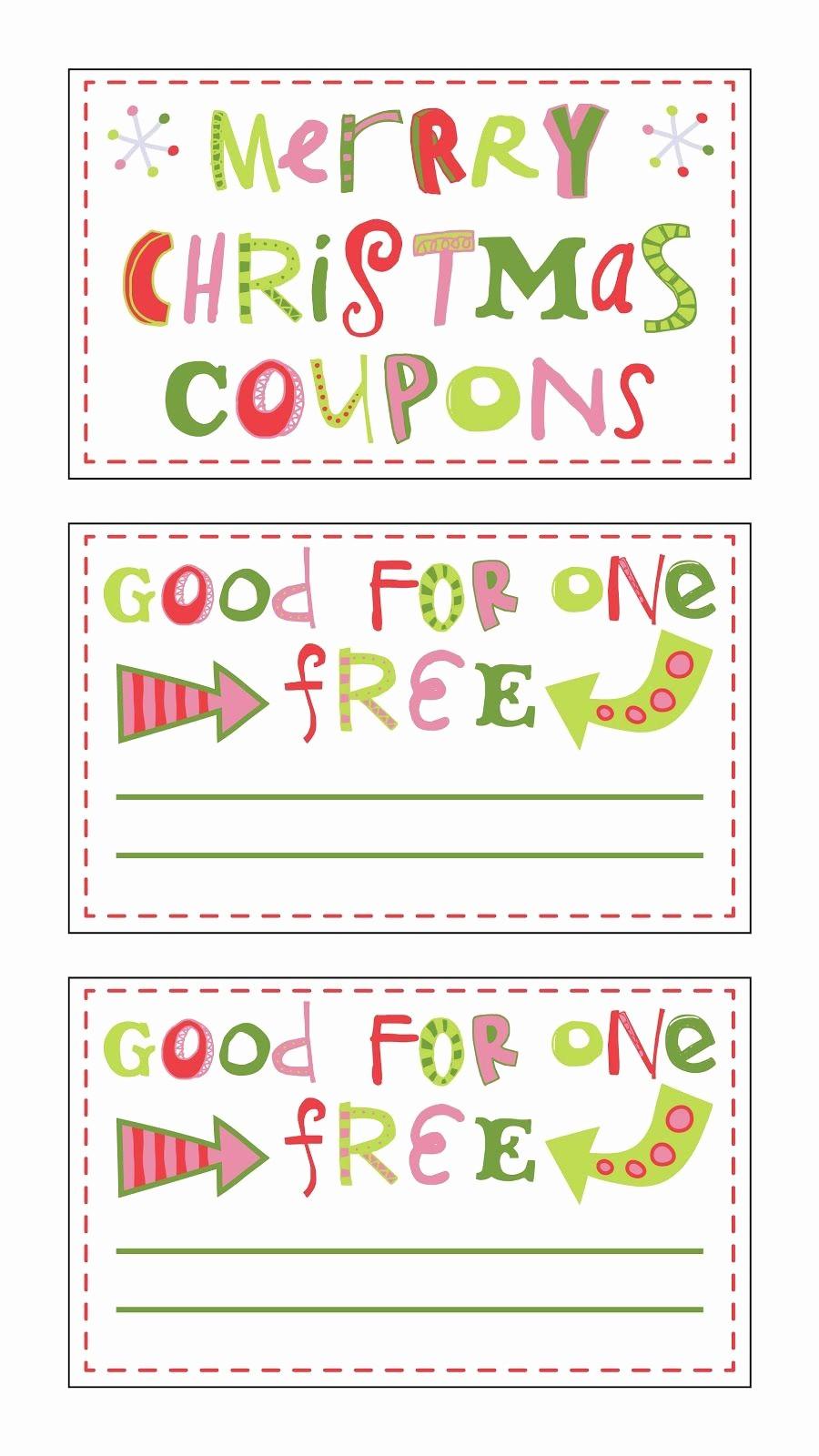 Printable Gift Coupon Templates Free Beautiful Free Printable Christmas Coupons Fontaholic