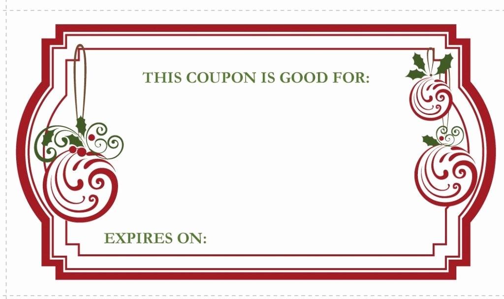 Printable Gift Coupon Templates Free Elegant Christmas Coupon Templates Invitation Template