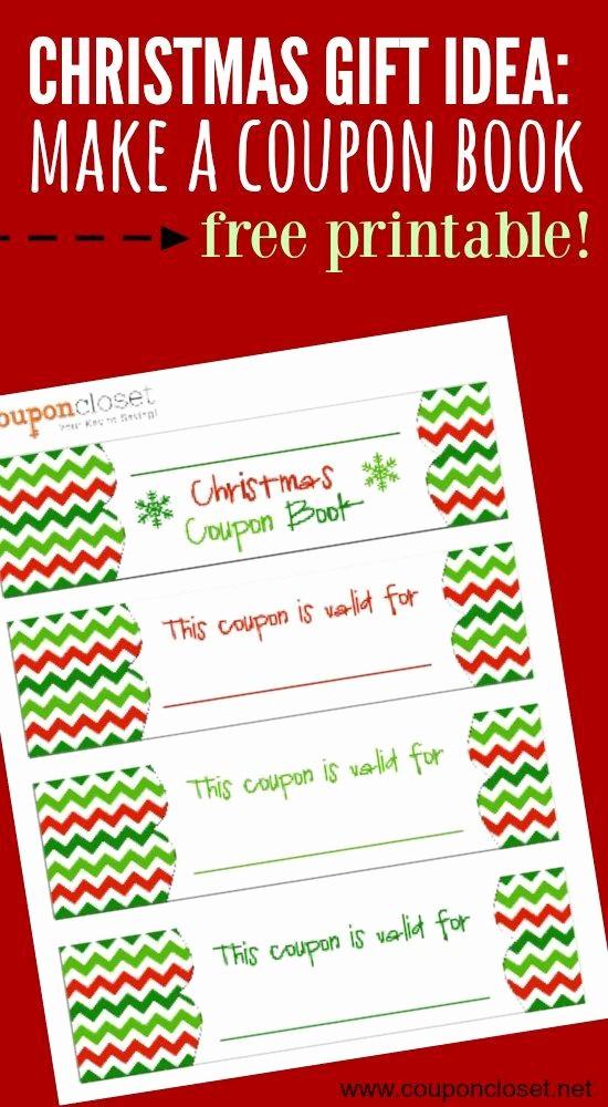 Printable Gift Coupon Templates Free Elegant Free Christmas Coupon Book Printable Homemade Gift Idea