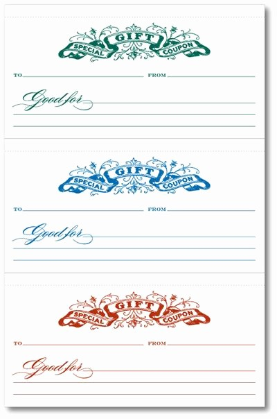 Printable Gift Coupon Templates Free Inspirational T Coupons Printables