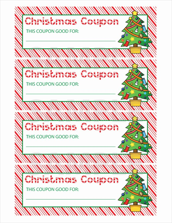 Printable Gift Coupon Templates Free Luxury 29 Christmas Coupon Templates Psd Doc Apple Pages