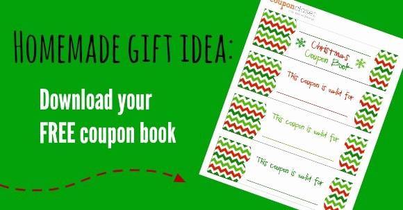 Printable Gift Coupon Templates Free Luxury Free Christmas Coupon Book Printable Homemade Gift Idea