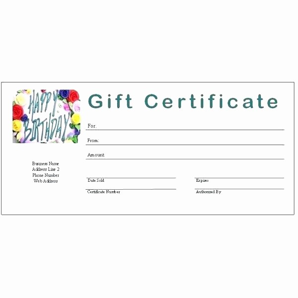 Printable Gift Coupon Templates Free New Birthday Gift Certificate Voucher Template Printable Card