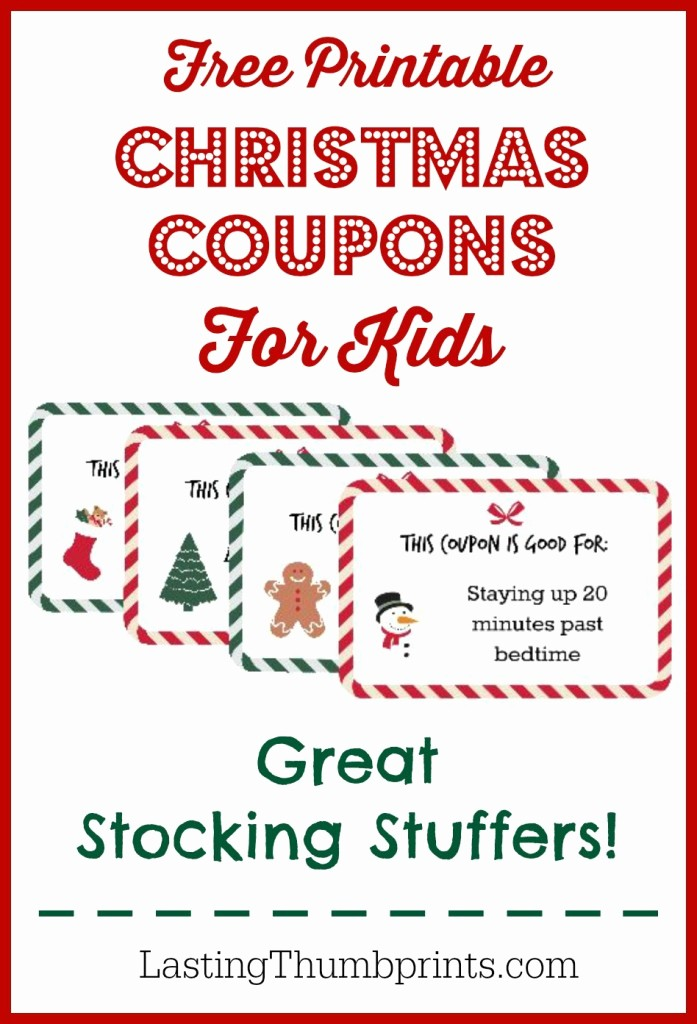 Printable Gift Coupon Templates Free Unique 5 Christmas Printable Gift Certificates and Coupon Books