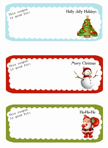 Printable Gift Coupon Templates Free Unique Free Printable – Holiday Coupon Template