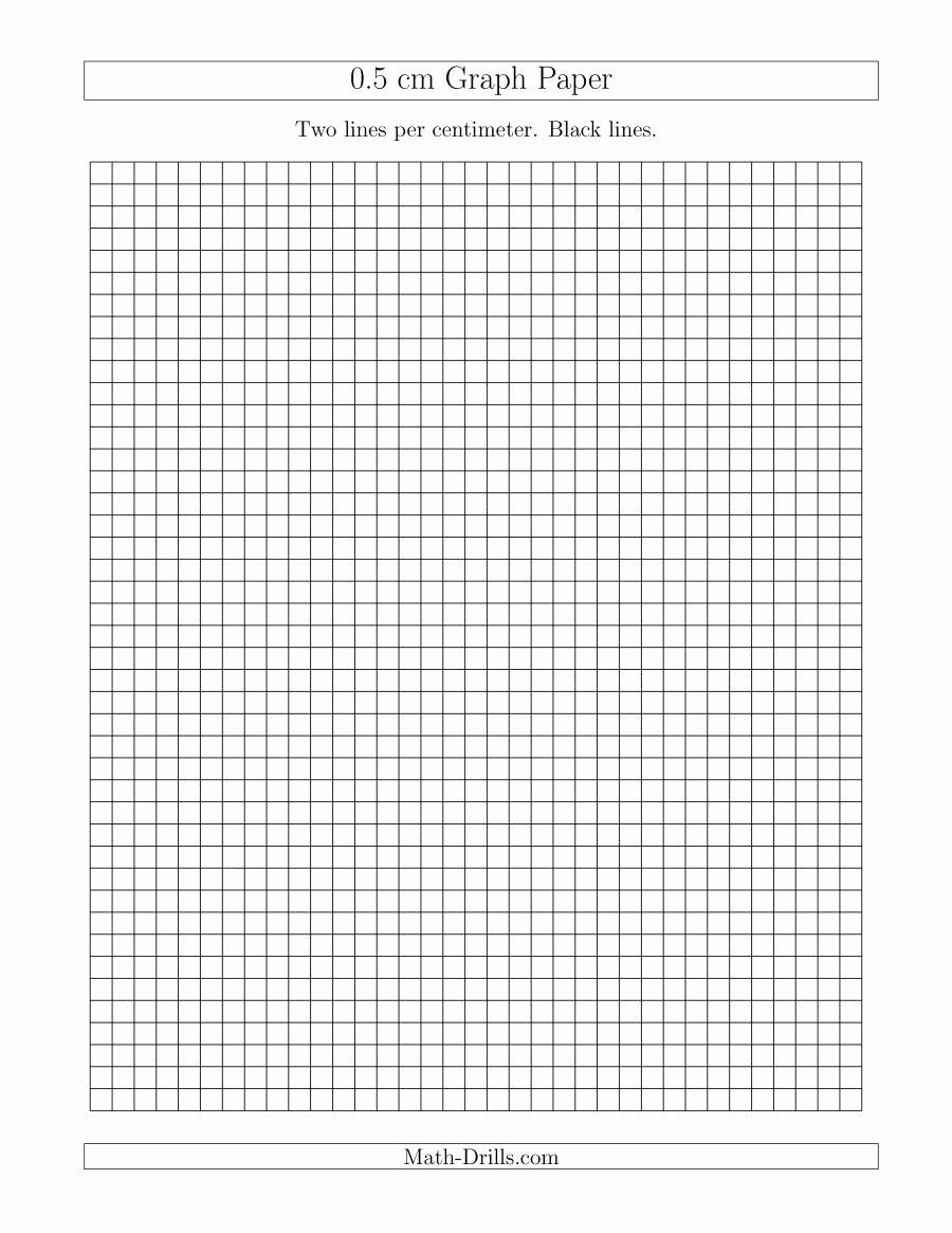 Printable Graph Paper Black Lines Awesome 0 5 Cm Graph Paper with Black Lines A