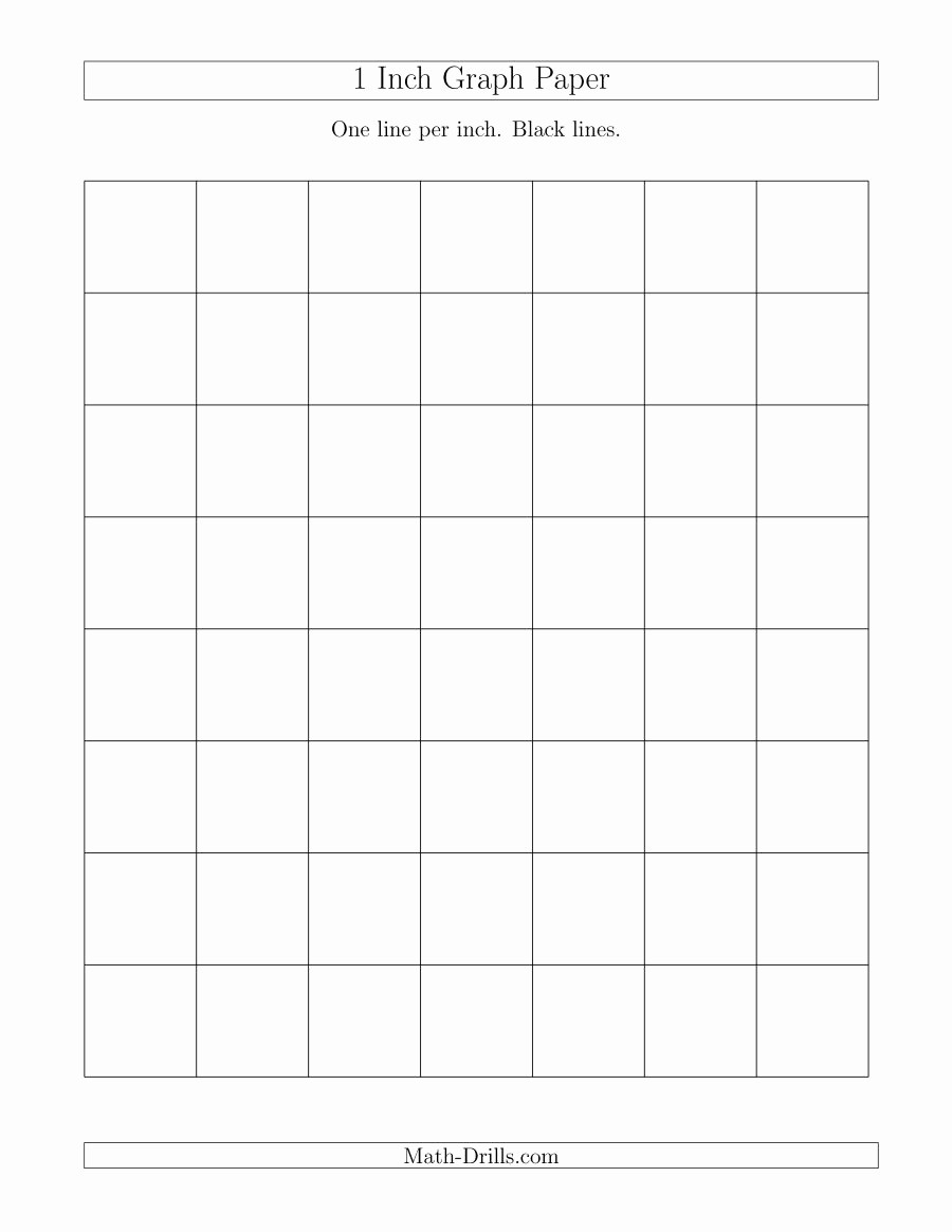 Printable Graph Paper Black Lines Awesome 1 Inch Graph Paper with Black Lines A