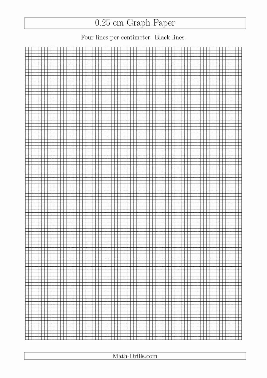 Printable Graph Paper Black Lines Elegant 0 25 Cm Graph Paper with Black Lines A4 Size A