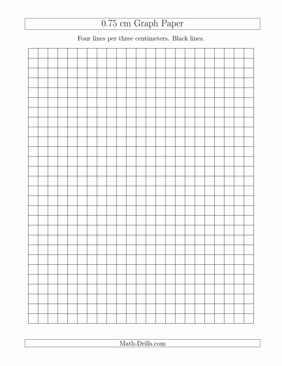 Printable Graph Paper Black Lines Fresh 0 75 Cm Graph Paper with Black Lines A Graph Paper