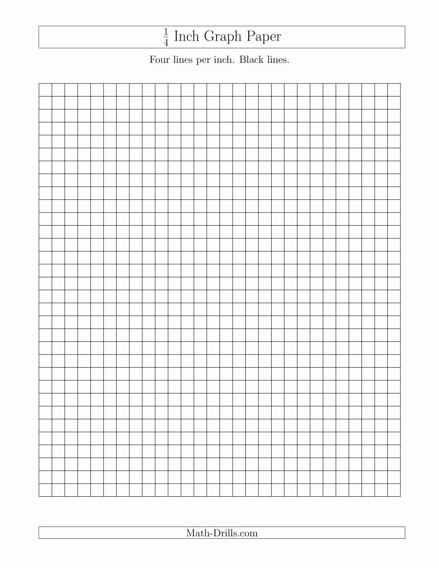 Printable Graph Paper Black Lines Inspirational 1 4 Inch Graph Paper with Black Lines A Graph Paper