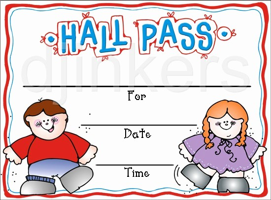 Printable Hall Passes for Students Best Of Cute Clip Art for School & Teachers by Dj Inkers