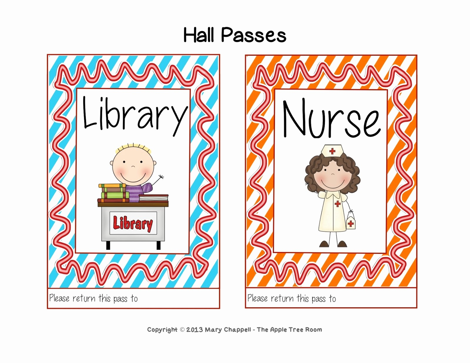 Printable Hall Passes for Students Best Of the Apple Tree Room Hall Pass Set