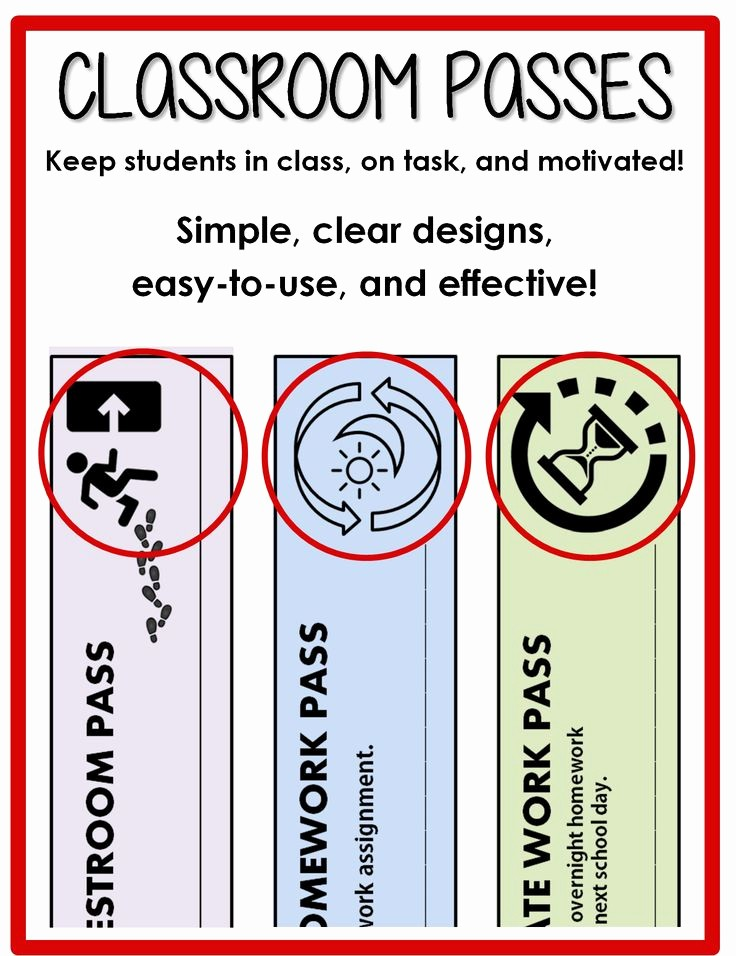 Printable Hall Passes for Students Fresh 1000 Ideas About Restroom Pass On Pinterest