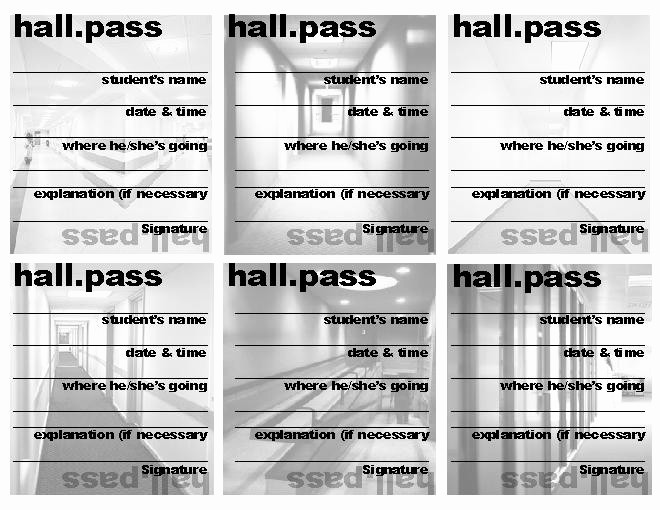 Printable Hall Passes for Students Fresh 7 Best Of Printable Hall Passes for Teachers