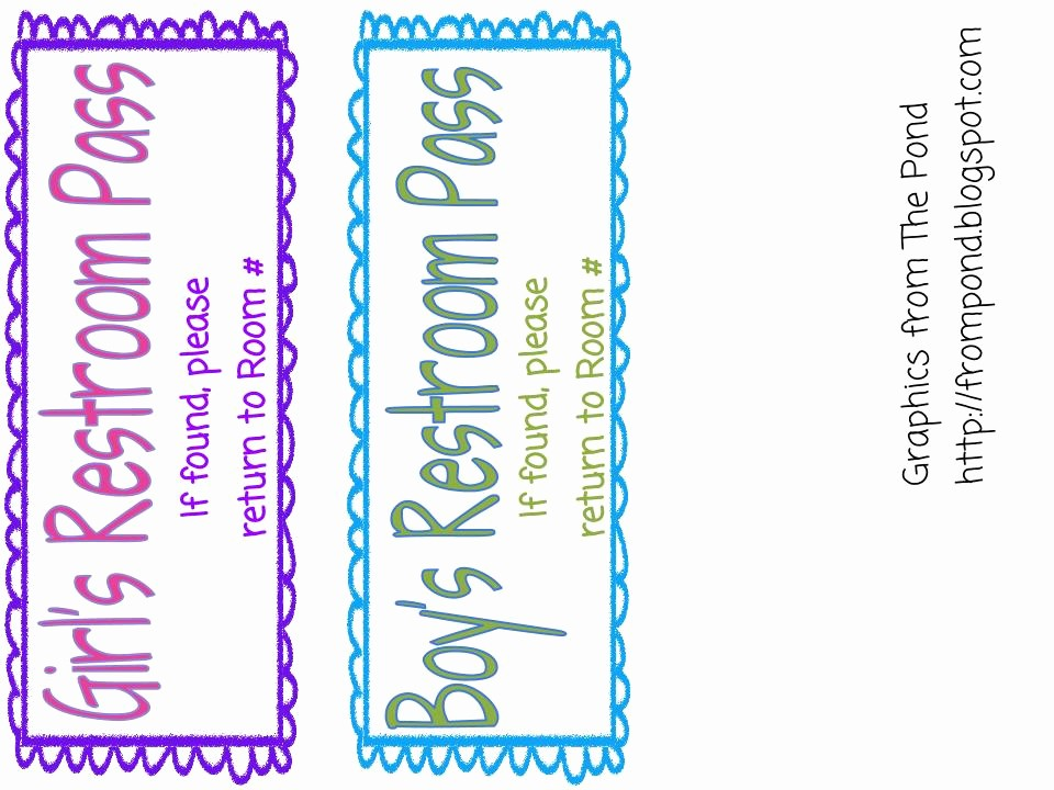 Printable Hall Passes for Students Lovely This Little Piggy Reads Freebie Restroom Pass On Goggle Docs
