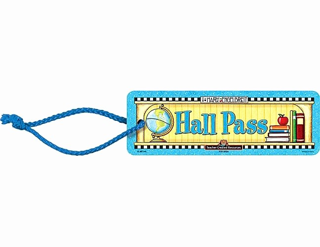 Printable Hall Passes for Students Luxury Elementary School Hall Pass