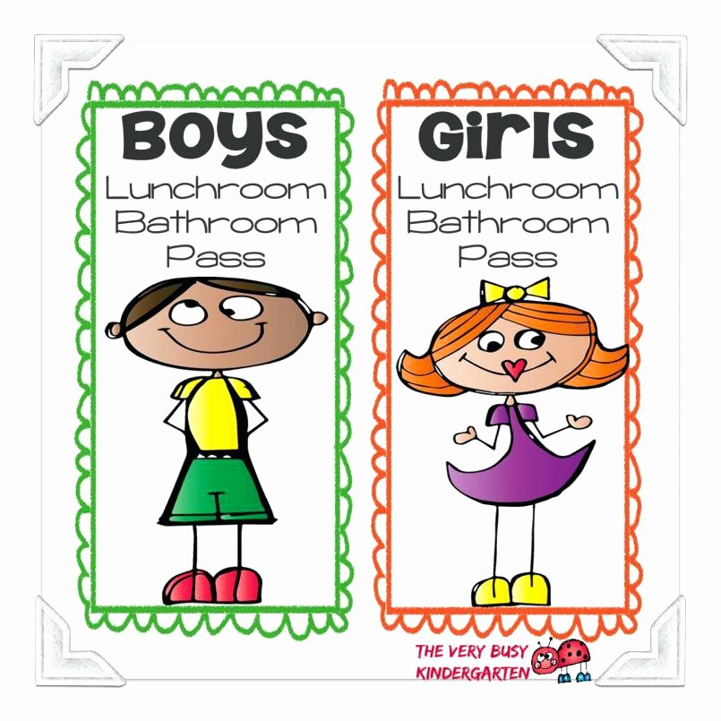 Printable Hall Passes for Students New Bathroom Pass Bathroom Pass Cartoon 2 2 Bathroom Hall