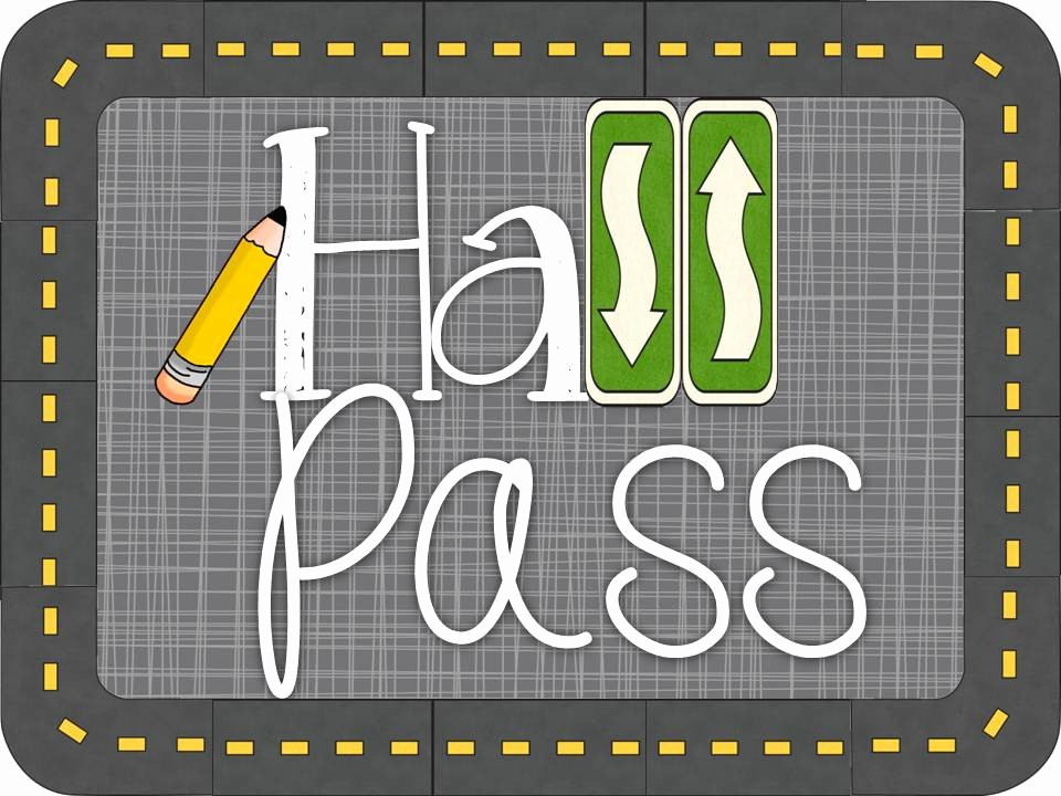Printable Hall Passes for Students New Hall Pass Linky Tunstall S Teaching Tidbits