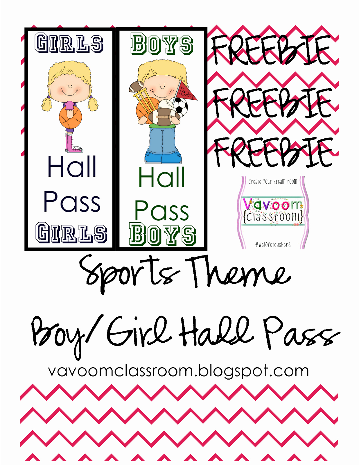 Printable Hall Passes for Students New Vavoom Classroom Sports theme Classroom Kit Hall Passes