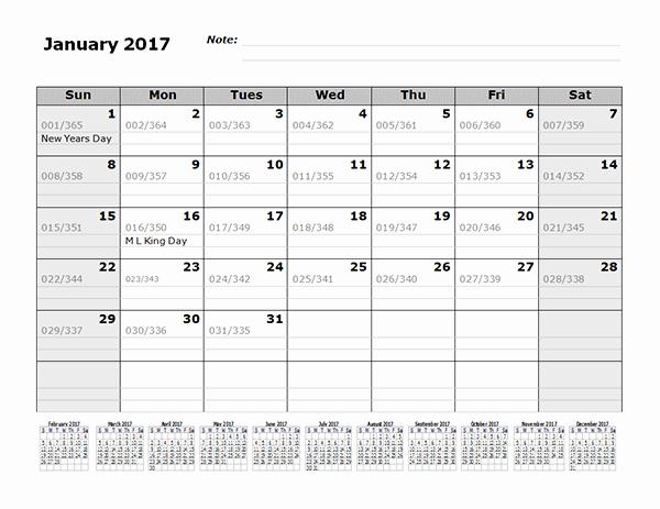 Printable Julian Date Calendar 2017 Luxury 2017 Monthly Julian Calendar 12 Months Bottom Free