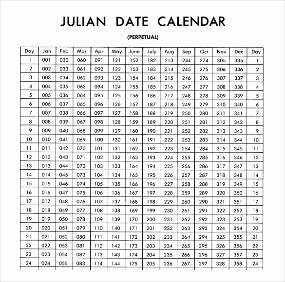 Printable Julian Date Calendar 2017 Luxury Julian Calendar 9 Download Documents In Pdf Psd