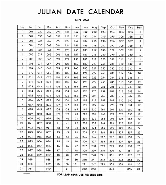 Printable Julian Date Calendar 2017 Luxury Julian Calendar – Printable Calendar Templates