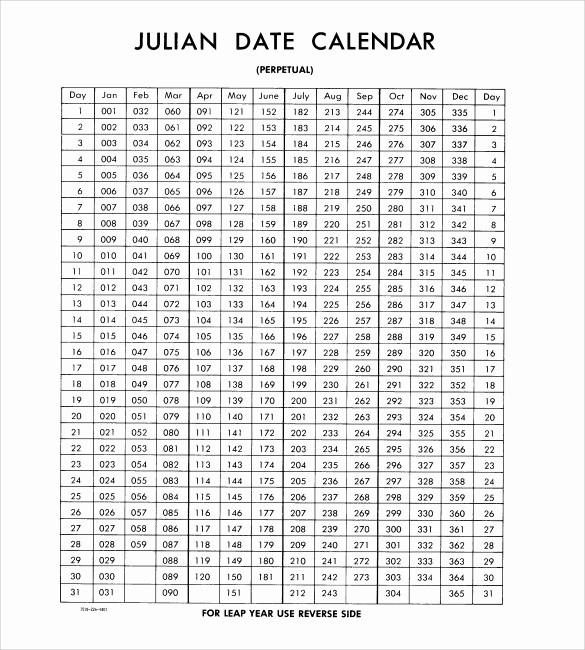 Printable Julian Date Calendar 2017 Luxury Julian Calendar – Printable Calendar Templates