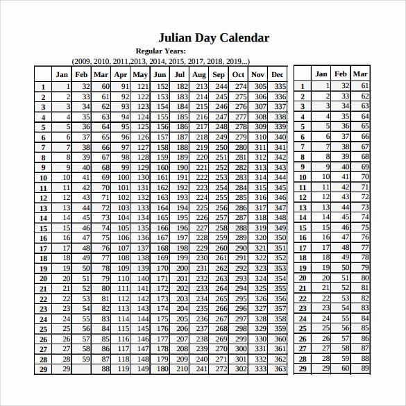 Printable Julian Date Calendar 2017 New Julian Calendar 2019