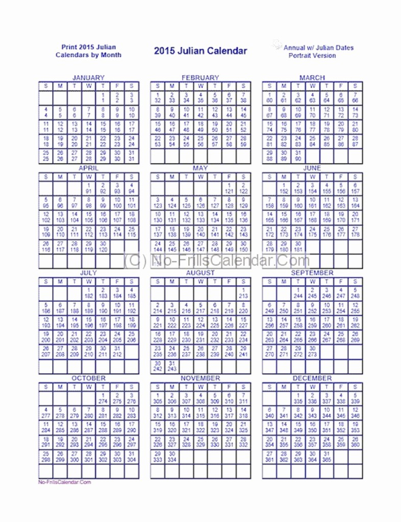 Printable Julian Date Calendar 2017 New Julian Date Calendar 2016 2018 Printable