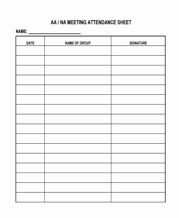 Printable Meeting Sign In Sheet Fresh Visitor Sign In form Meeting attendance Sheet Aa Free and