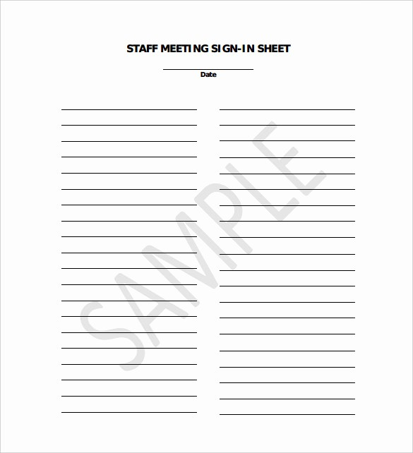 Printable Meeting Sign In Sheet Luxury 18 Sign In Sheet Templates – Free Sample Example format