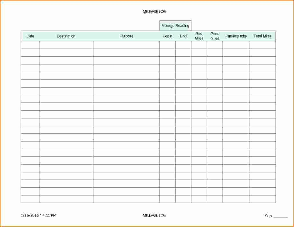 Printable Mileage Log for Taxes Awesome 5 Mileage Log for Taxes